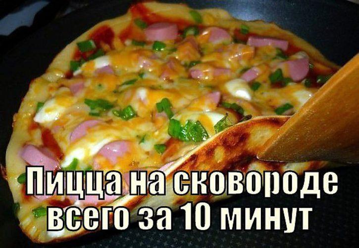 Пошаговый рецепт пицца на сковороде