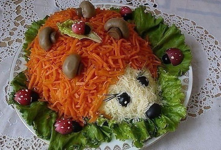 Салат ежики рецепты