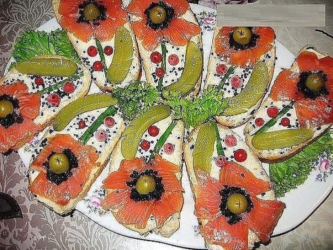 Бутерброды к праздничному столу рецепты простые