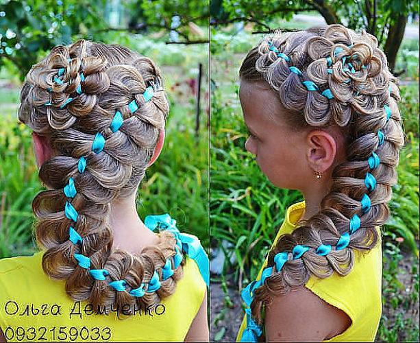 Плетёные причёски на 1 сентября