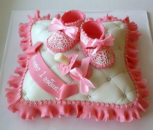 Торты на 1 годик для девочки своими руками