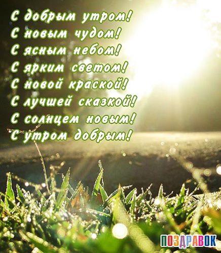 Короткие стихи с добрым утро друзья