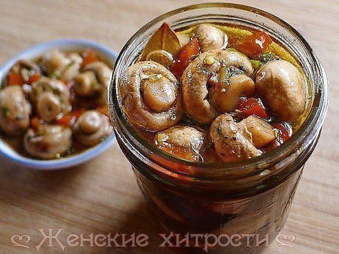 шампиньоны маринованные рецепт приготовления на зиму