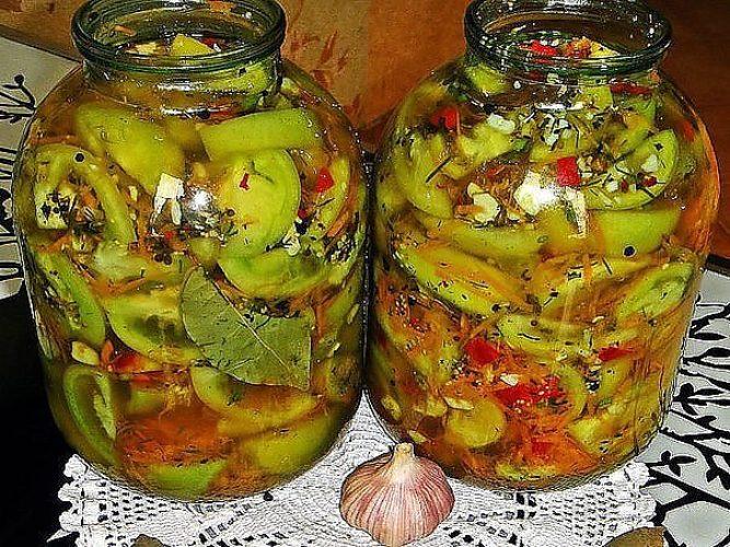 Засолка зеленых помидор рецепт с фото