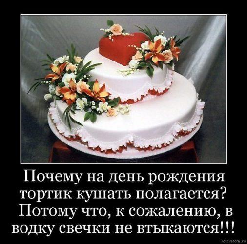 Прикольные поздравления к торту 45