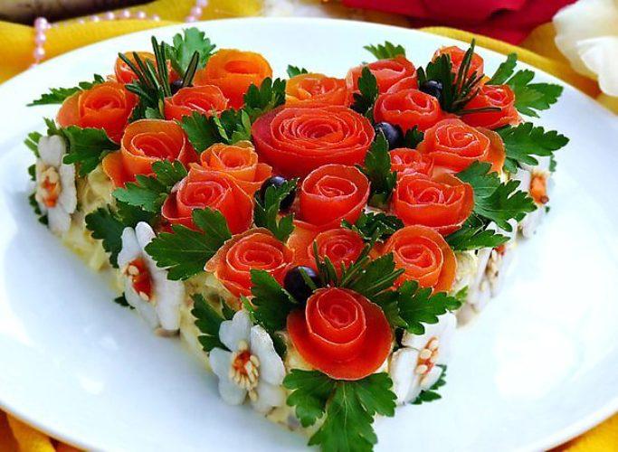 Вкусные и красиво оформленные салаты рецепты