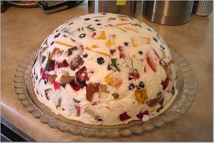 Торт с фруктами с желатином и сметаной рецепт