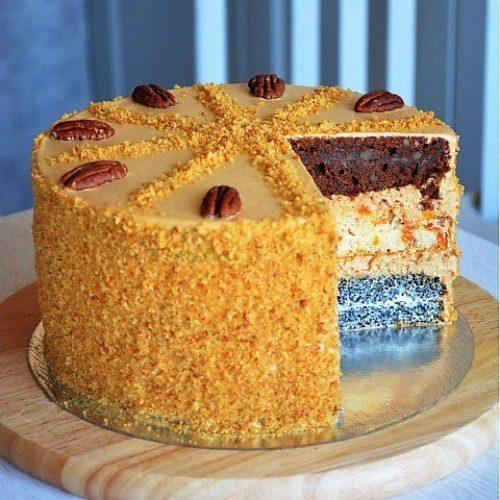 Торт рецепт дамский каприз