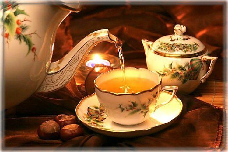 Вечер чай дома