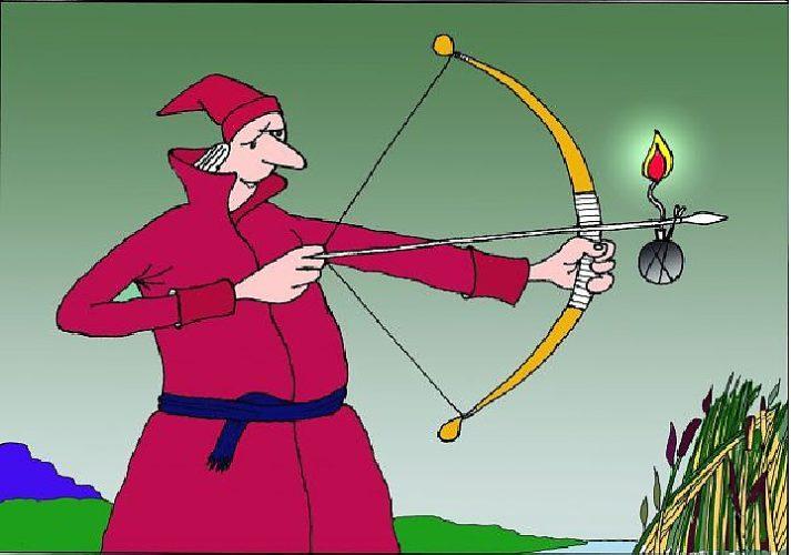 Прикольные картинки с лучниками и про лучников, анимационные