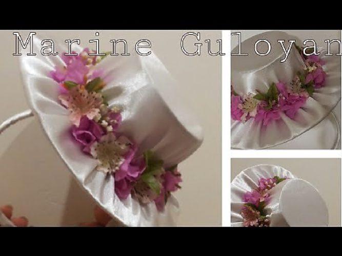 Цветы из фоамирана своими руками , цветы для шляпы
